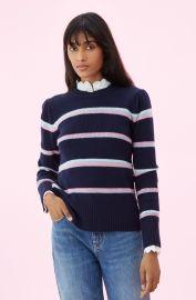 La Vie Multi Stripe Pullover   Rebecca Taylor at Rebecca Taylor