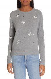 La Vie Rebecca Taylor Butterfly Wool Blend Sweater   Nordstrom at Nordstrom