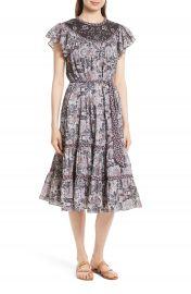 La Vie Rebecca Taylor Indochine Embroidered Floral Dress at Nordstrom