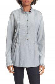 La Vie Rebecca Taylor Ruffle Neck Shirt at Nordstrom