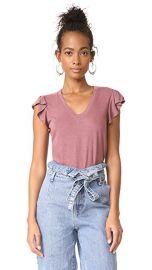 La Vie Rebecca Taylor Short Sleeve Washed Textured Jersey Top at Shopbop