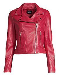 LaMarque - Leather Biker Jacket at Saks Fifth Avenue