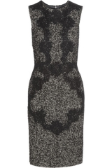 Lace Applique Dress by Dolce and Gabbana at Net A Porter