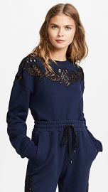 Lace Applique Pullover by Jonathan Simkhai at Shopbop