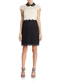 Lace Blocked Dress at Saks Off 5th