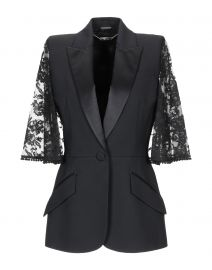 Lace Cape Sleeve Jacket by Alexander McQueen at Yoox