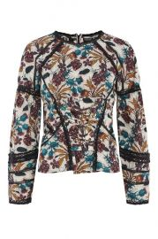 Lace Corset Long Sleeved Top at Topshop