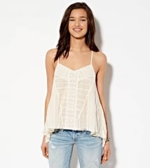 Lace Cross Back Tank at American Eagle