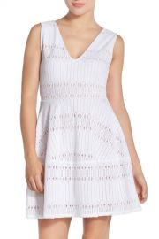 Lace Fit  amp  Flare Dress at Nordstrom Rack