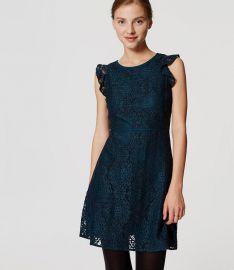 Lace Flutter Dress at Loft