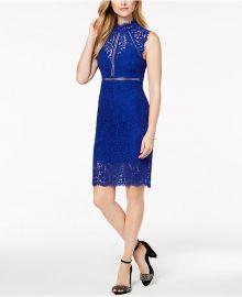 Lace Illusion Sheath Dress at Macys