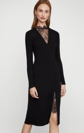 Lace Neck Dress by Bcbgmaxazria at Bcbg