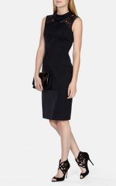 Lace Panelled Pencil Dress at Karen Millen