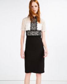 Lace Pencil Dress by Zara at Zara
