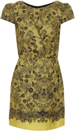 Lace Placement Twist Dress at Topshop at Topshop