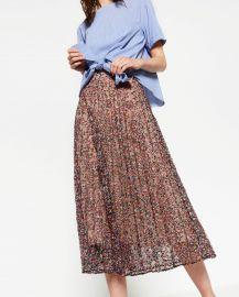 Lace Print Skirt at Zara
