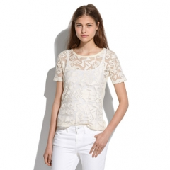 Lace Shapes Tee at Madewell