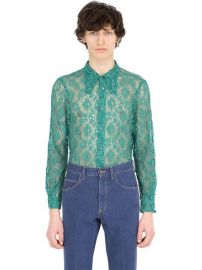 Lace Shirt With 70S Style Collar at Gucci