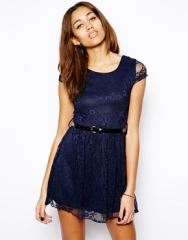 Lace Skater Dress at Asos