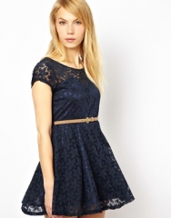 Lace Skater Dress by Yumi at Asos