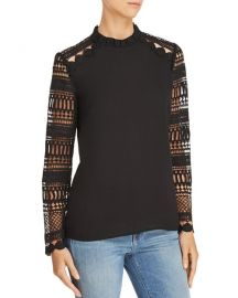 Lace-Sleeve Top at Bloomingdales