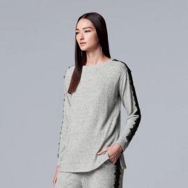 Lace-Trim Crewneck Sweater at Kohls