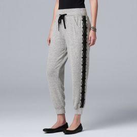 Lace-Trim Jogger Pants at Kohls