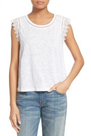 Lace Trim Linen Tank at Nordstrom Rack