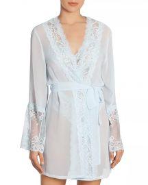 Lace-Trim Wrap Robe at Bloomingdales