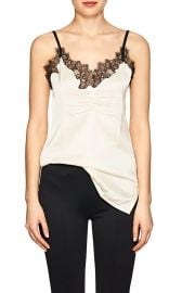 Lace-Trimmed Cashmere Satin Cami by Helmut Lang at Barneys