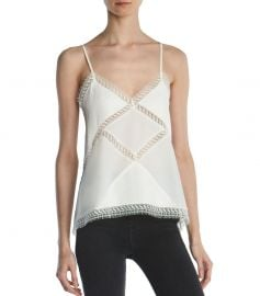Lace-Trimmed Silk Camisole Top by The Kooples at Bloomingdales