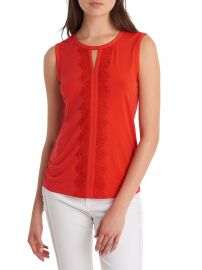 Lace-Trimmed Sleeveless Top at Lord & Taylor
