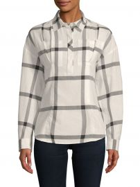 Lace-Up Cotton Shirt at Saks Off Fifth
