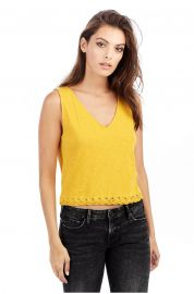 Lace Up Crop Tank by True Religion at True Religion
