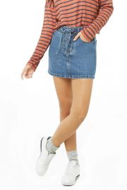 Lace-Up Denim Skirt by Forever 21 at Forever 21