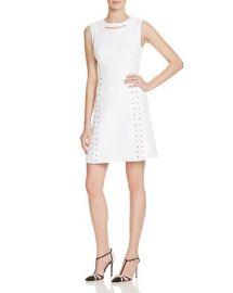 Lace-Up Detail Piqué Dress by Karen Millen at Bloomingdales