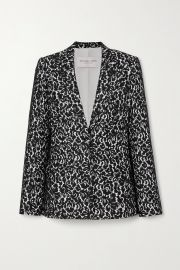 Lace and crepe blazer at Net a Porter