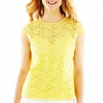 Lace cap sleeve top by Liz Claiborne at JC Penney