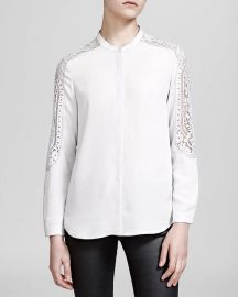 Lace-detail woven shirt by The Kooples at Nordstrom