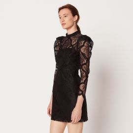 Lace dress with gigot sleeves at Sandro