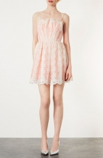 Lace fit and flare dress by Topshop at Nordstrom