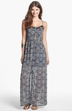 Lace inset maxi dress by Mimi Chica at Nordstrom