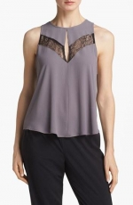 Lace inset top by ASTR at Nordstrom