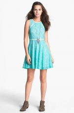 Lace leather trim dress by Lush at Nordstrom