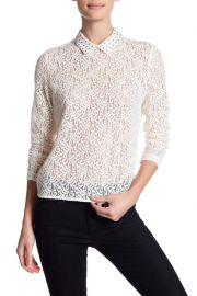 Lace long sleeve shirt at Nordstrom Rack