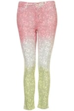 Lace ombre jeans from Topshop at Topshop