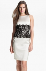 Lace panel sheath dress by Xscape at Nordstrom