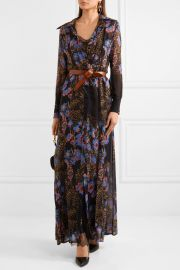 Lace-paneled floral-print silk-chiffon maxi and shirt dress set at Net A Porter