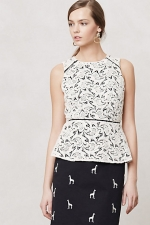 Lace peplum top like AnnaBeths at Anthropologie