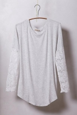 Lace sleeved scoopneck at Anthropologie at Anthropologie
